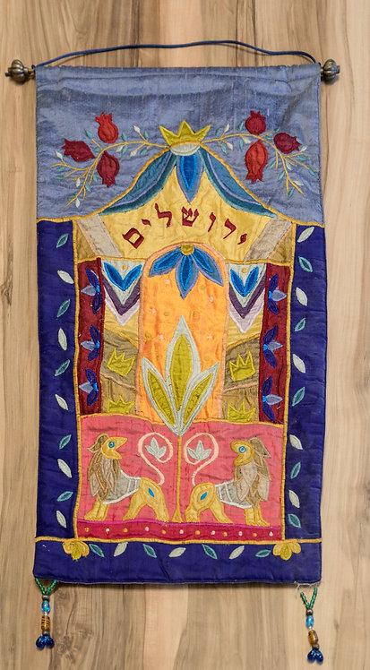 Wandbild Jerushalajim - Patchwork