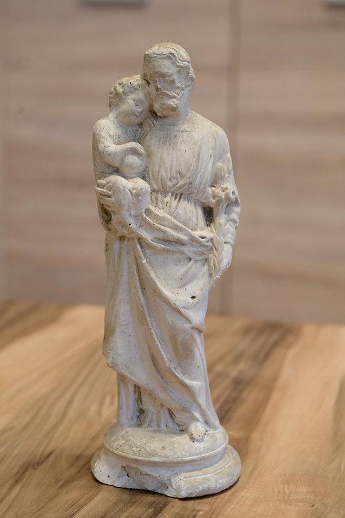 Joseph mit Christuskind - Gips