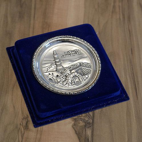 Tellerchen Jerusalem - Silber