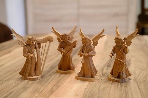 Engelgruppe - Holz