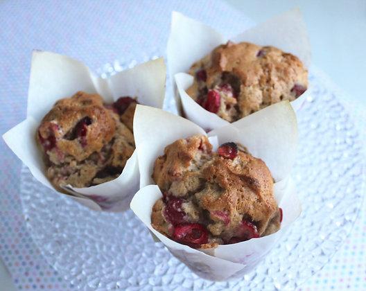 Cranberry Eggnog Muffins (4 pcs)