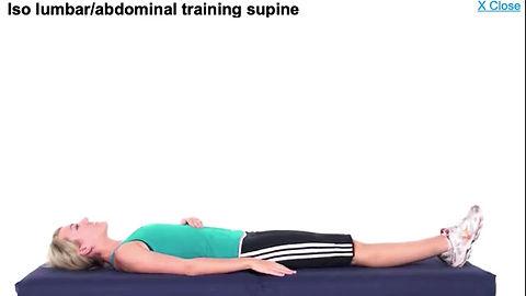 rééducation lombaire / abdominale