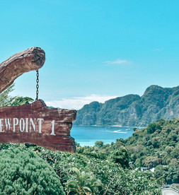 passing out at koh phi phi viewpoint