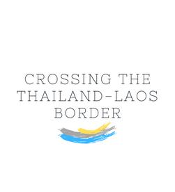 crossing the border between Chiang rai and Luang Prabang by bus