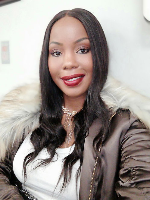 Danelle: 100% Human Hair Virgin Brazilian Remy Lace Front Wig with baby hair