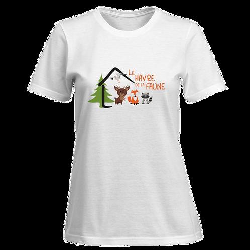 T-shirt pour femme (Blanc/Noir)