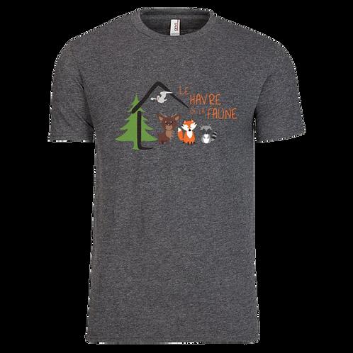 T-Shirt gris chiné pour homme
