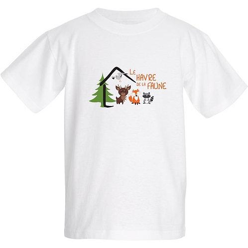 T-shirt pour enfant (Blanc/Bleu/Gris)