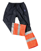 Seal Flex Hi Vis Orange Blue Rain Pants.