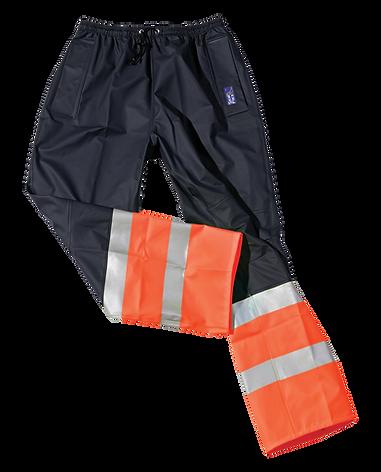 Seal Flex Hi Vis Orange Blue Rain Pants.