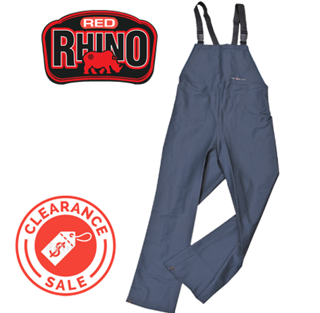 Red Rhino Bib & Brace with logo clearanc