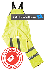 ULTRA FLEX BIB BRACE HI VIS YELLOW CLEAR