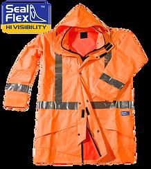 Seal Flex Orange Rain Jacket with logo.p
