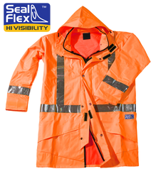 Seal Flex Orange Rain Jacket with logo.p