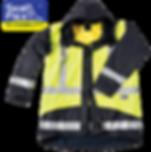 Hi Vis yellow blue rain jacket breathable