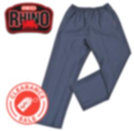 Red Rhino Rain Pants with logo clearance
