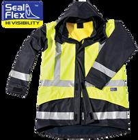 Seal Flex Hi Vis Yellow Blue Breathable Rain Jacket