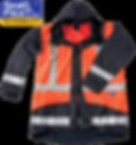 Seal Flex Rain Jacket blue orange lgo.pn
