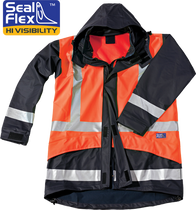 Seal Flex Rain Jacket blue orange lgo.pn