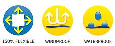 flexible windproof waterproof icon round
