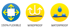 flexible windproof waterproof icon round
