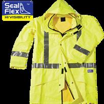 Seal Flex Hi Vis Yellow Breathable Rain Jacket
