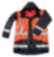 Seal Flex Hi Vis Orange Blue Rain Jacket