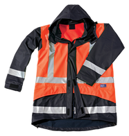 Seal Flex Hi Vis Orange Blue Rain Jacket