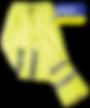 Hi Vis Breathable rain pants yellow