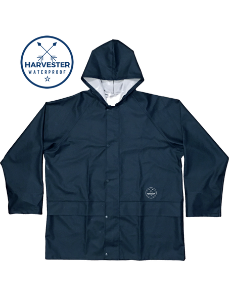 Havester Rain Jacket Blue waterproof