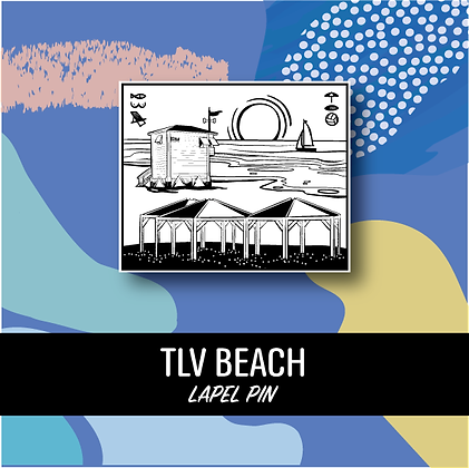 TLV Beach Lapel Pin