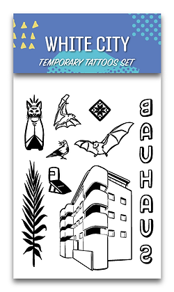 White City Temporary Tattoos Set