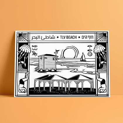 TLV Beach Print