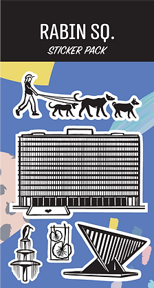 Rabin Sq. Sticker Pack