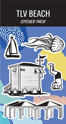 TLV Beach Sticker Pack