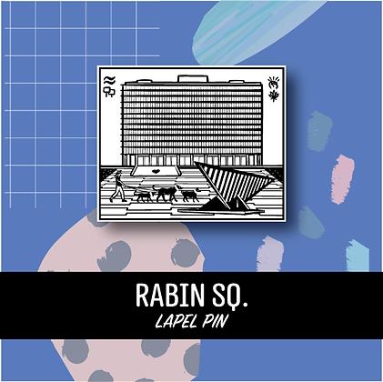 Rabin Sq. Lapel Pin