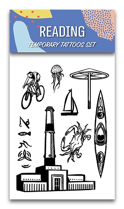 Reading Temporary Tattoos Set