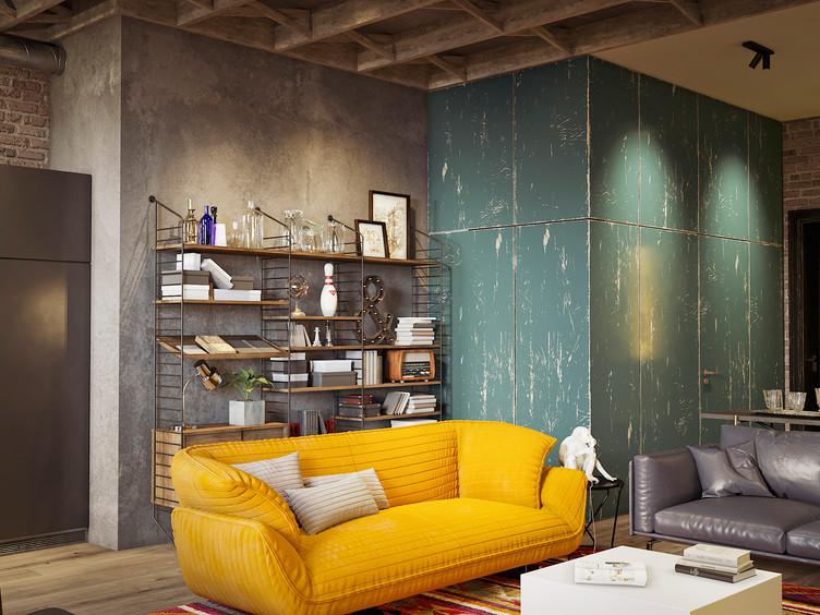 Апартаменты в стилистике Industrial Chic