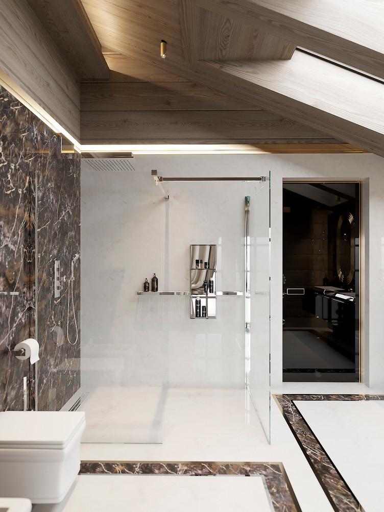 Загородный дом. Ванная комната