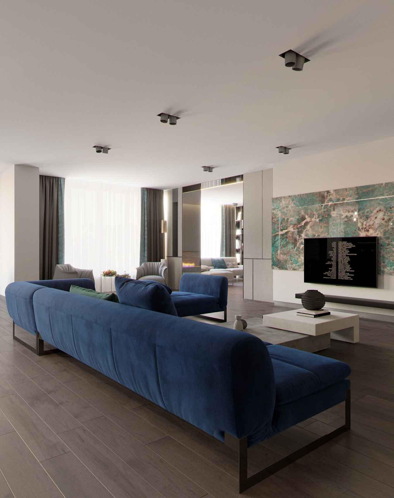 Апартаменты. Дизайн интерьера. Современный интерьер