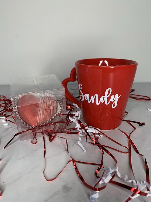 Customize name Mug + Hot Chocolate Bomb