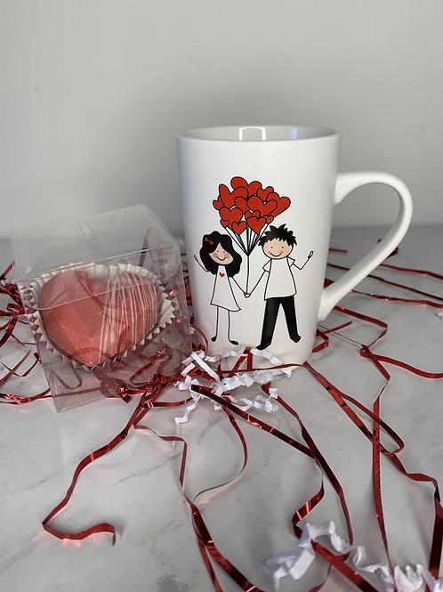 Gift Set Hot Chocolate Bomb and a Mug