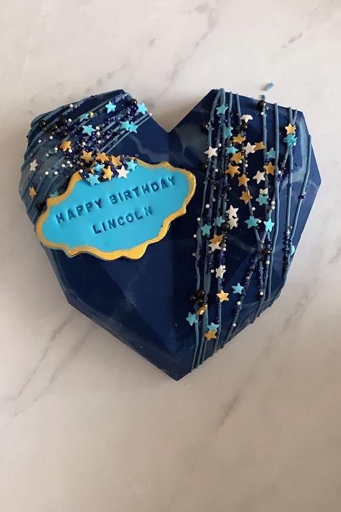 Birthday Smash Cake with fondant msg