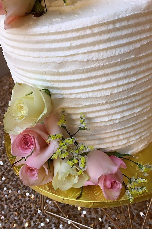 Two Tiers tall wedding cake