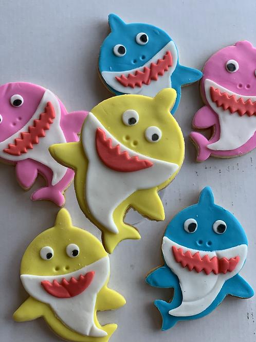 Baby Shark sugar cookies (set of 6)