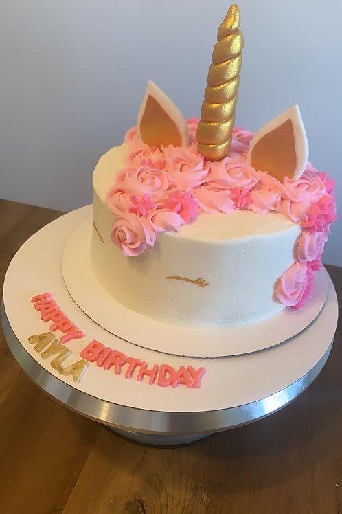 Small Unicorn Buttercream Cake