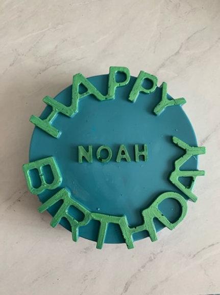 Chocolate Happy Birthday Smash Cake