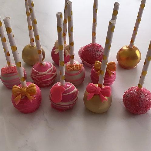 12 Baby Shower Cakepops