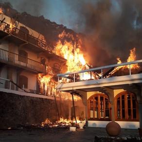Após mais de 3h, bombeiros controlam incêndio que destruiu hotel na Serra da Mantiqueira