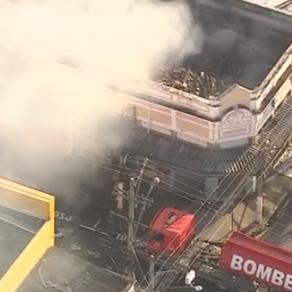 Incêndio atinge lojas no centro de Niterói, no RJ